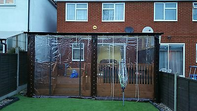 Winter Patio Cover Pvc Wall Curtain Wall With Clear Pvc Window And Door Panel