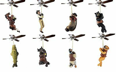 Western Rustic Ceiling Fan Light Pull Cowboy Deer Horse Cow Duck Bear Dog Fish