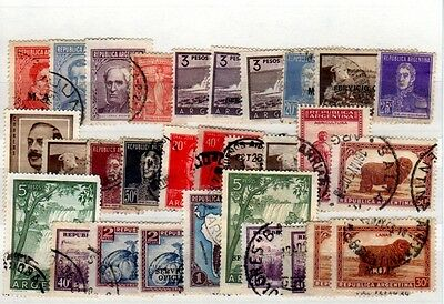 Argentina - Stockcard of 30 Stamps - Used