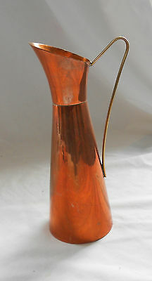RETRO Vintage TRADITIONAL BRASS & COPPER JUG PITCHER 20cm Tall