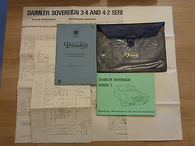 Daimler Sovereign Series 2 Owners Handbook Manual and Wallet