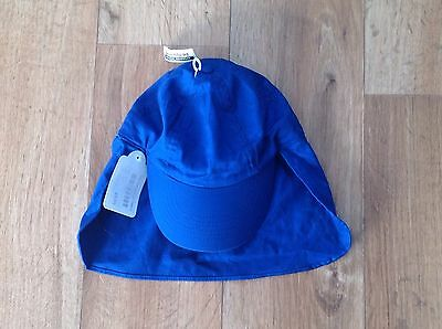 Brand New With Tags Royal Blue Sun Hat Legionnaires One Size School Uniform