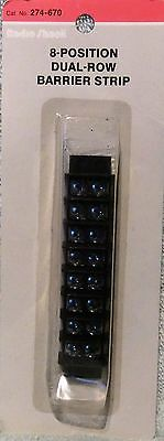 Radio Shack 8 Position Dual Row Barrier Strip 274-670 New