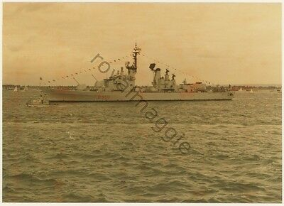 5 colour prints of Italian Navy destroyer D550 Ardito at the Fleet Review 1977