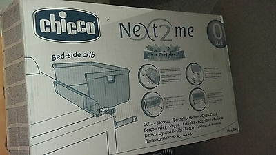 EX-CON Chicco next to me (breastfeeding) baby crib/cot, box+instructions+sheets