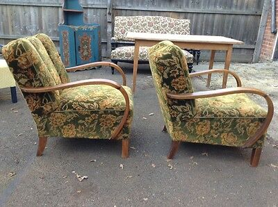 Easy Chair/ Beautiful Armchair Art Deco /vintage professionally reupholstered