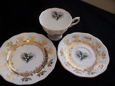 Royal Standard  50's Fine Bone China Cup Saucer and Plate