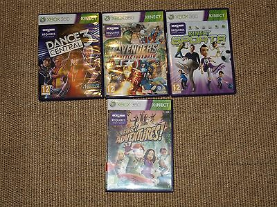 Four Xbox kinect games