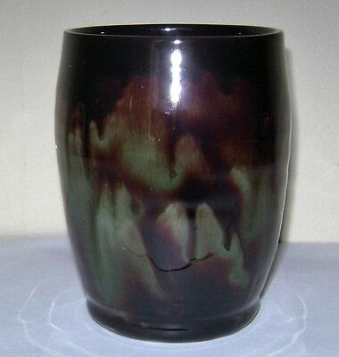 Ewenny pottery brown/Green glaze vase. Excellent condition.