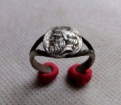 Nice Ancient Silver Greek Ring. RARE.