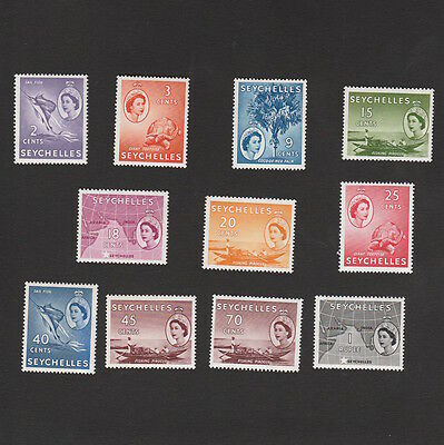 SEYCHELLES SELECTED UNMOUNTED MINT QE2 STAMPS FROM THE 1950s