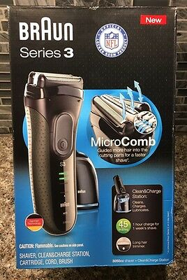 BRAND NEW SEALED Braun Series 3 Rechargeable MicroComb Shaver 3050cc