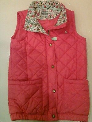 Joules girls pink gilet body warmer age 11 - 12 years