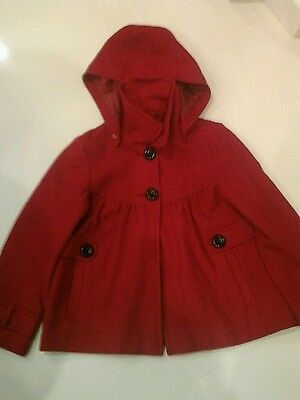 Next Girls red coat jacket age 9 - 10 years