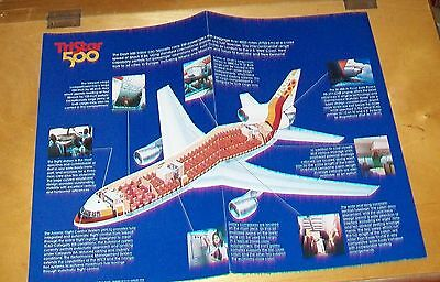Lockheed L-1011 Tristar 500 Cutaway Drawing Manufacturer's Leaflet. August 1978