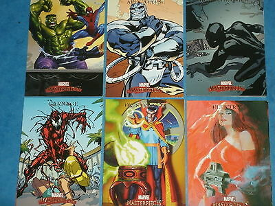 Marvel Masterpieces (Set 1 2007)Complete 90 Card Base Set Trading Cards Avengers
