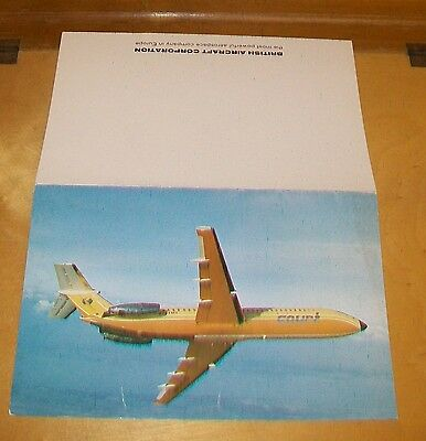 New Bac One-Eleven 500 Advertising Card. Court Line G-Axmh