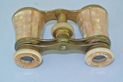 Antique Mother of Pearl Lefils Paris Opera Glasses with case