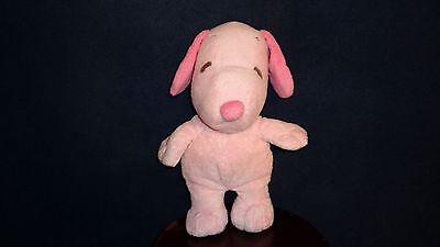 """Ty Pluffies All Pink Snoopy Music Plush 2011 11"""""""