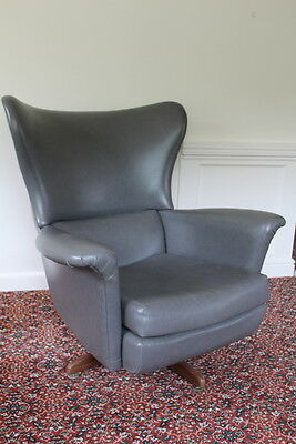 Mid Century 1950's swivel armchair wing egg  Greaves and Thomas Style chair