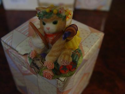 k CALICO KITTENS FIGURINE BY ENESCO, NEW IN BOX