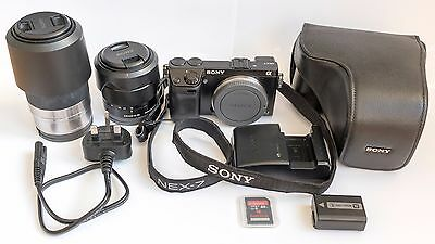 Sony Alpha NEX-7 24.3MP Digital Camera, 18-55 and 55-210mm lenses + accessories
