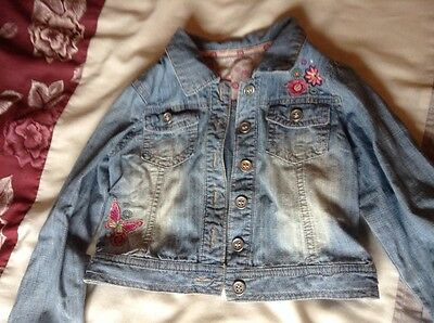 young girls denim jacket age 4-5