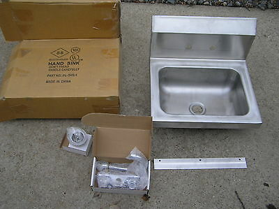 "Select Stainless Products Wall Mount Hand Sink w/Faucet S/S 18""X14""X12 NIB"
