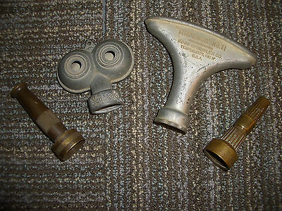Lot of 4 Vintage Melnor Sunmate Ross Fulton Garden Sprinklers and spray nozzles