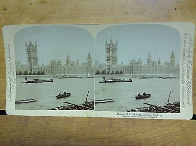 Stereoview The Houses Of Parliament Dated 1896