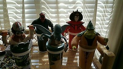 5 Taco Bell KFC Star Wars Cups/Toppers