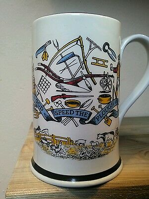antique cider mug god speed the plough farming collectors 5.5 inches