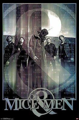 OF MICE AND MEN ~ REFLECTION 22x34 MUSIC POSTER Rock Austin Carlile Aaron Pauley