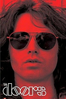 THE DOORS ~ JIM MORRISON RED PORTRAIT 24x36 MUSIC POSTER Sunglasses NEW/ROLLED!