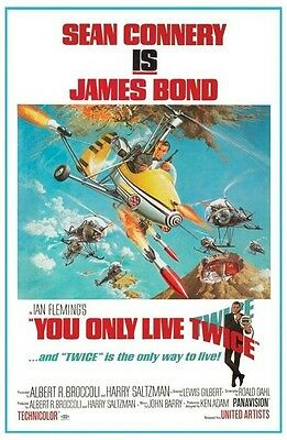 JAMES BOND ~ YOU ONLY LIVE TWICE ~ 24x36 MOVIE POSTER ~ Sean Connery 007