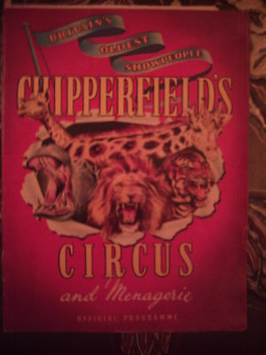 Chipperfields Circus Programme 1960.