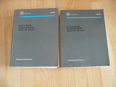 Mecedes 126 Service Manuals (Chassis and Body) Volumes 1 and 2 -- Free Shipping