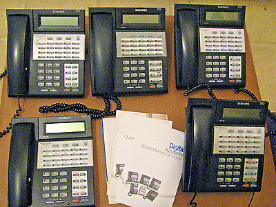 LOT OF 5 Samsung iDCS 28D Phones Display Business Phones FREE SHIPPING