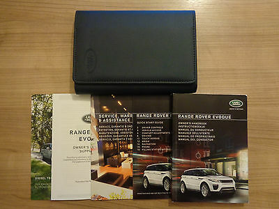 Range Rover Evoque Owners Handbook/Manual and Pack 15-16