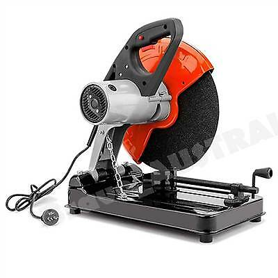 "Industrial Metal Cut Off Drop Saw 355mm Electric 2200W 14"" Cutting Wheel"