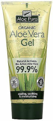 Aloe Pura Organic Aloe Vera Gel 200 ml, restores dry and damaged skin