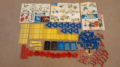 Vintage Plastic Meccano with instructions
