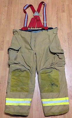 Janesville Lion Apparel Firefighter Pants Turnout Gear w/ Suspenders Size 52R