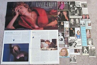 Jessica Lange (King Kong; Sweet Dreams) Magazine Clippings