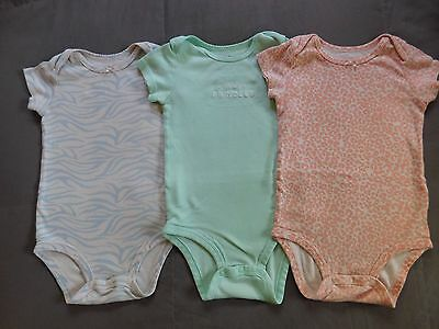 Lot of 3 Bodysuit Onesies for Baby Girl  12 months