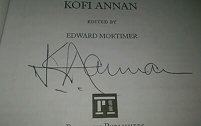 Kofi Annan UN Secretary General autographed signed book: We The Peoples