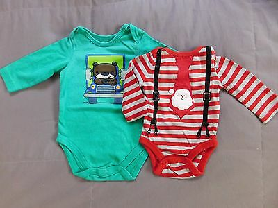 Lot of 2 Onesies for Baby Girl or Boy Newborn & 3 mos.