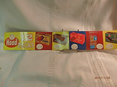 Lynnfiield, MA, Hood Ice Cream Old Store Stock Display 12 Pack Sign