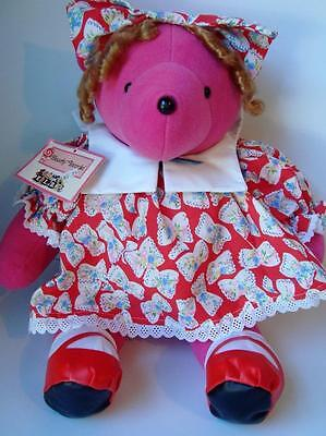 1988 NABCO Bearly Temple V.I.B. Shirley Teddy Bear LE Mint w/Tags PINK Big Plush