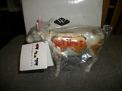Cow Parade 2000 HOT DOG COW FIGURINE #9158 New in Box, Retired